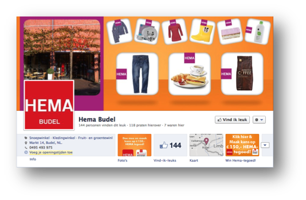 Social media design HEMA Budel door Social Addicts Weert