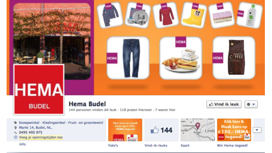 Facebookpagina Hema Budel by Social Addicts Weert