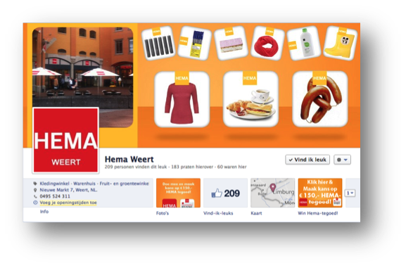 Social media design HEMA Weert door Social Addicts