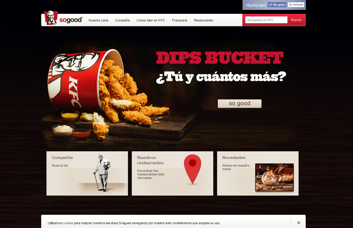 KFC Spanje webdesign door Social Addicts