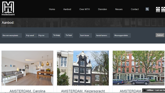 MTH Website door Social Addicts Amsterdam