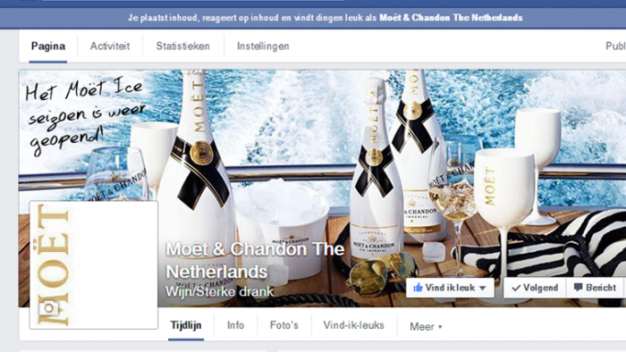 Moët Social media management door Social Addicts