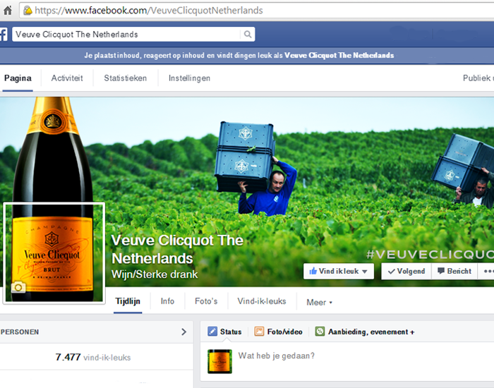 Veuve social media policy by Social Addicts