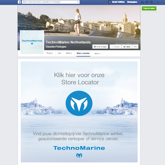 Technomarine Facebook app by Social Addicts Amsterdam