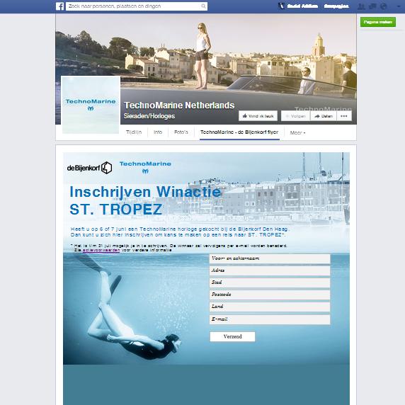 Facebook app door Social Addicts Amsterdam