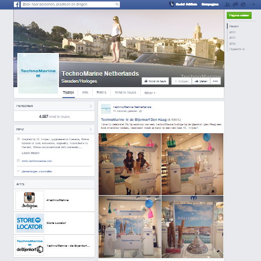 TechnoMarine Facebook door Social Addicts